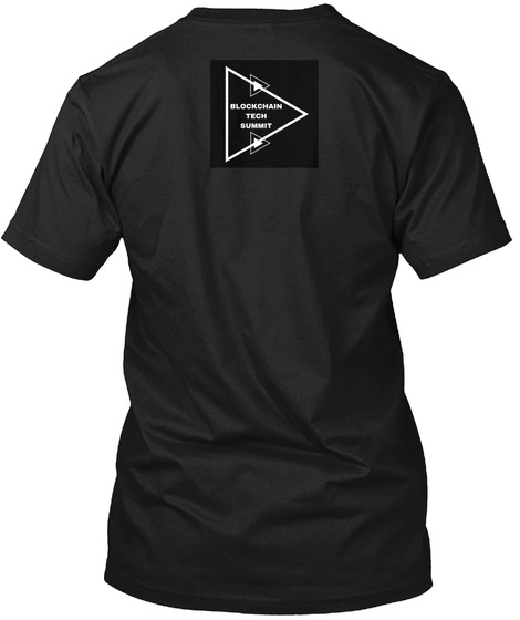 Blockchain Tech Summit Black T-Shirt Back