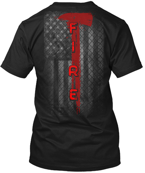Fire Black Camiseta Back