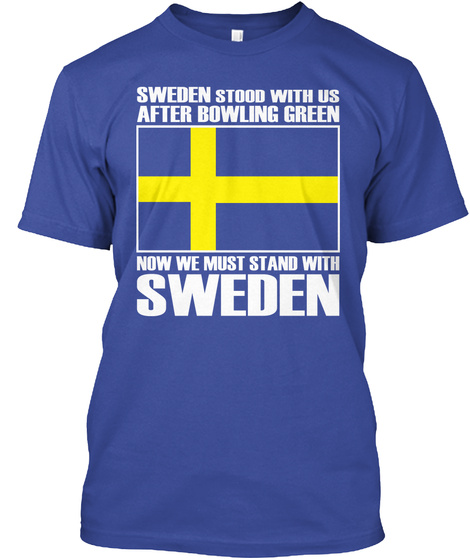 Stand With Sweden Deep Royal T-Shirt Front