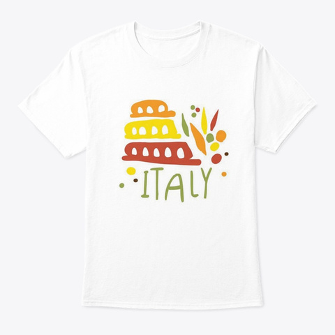 Italy #4 White T-Shirt Front
