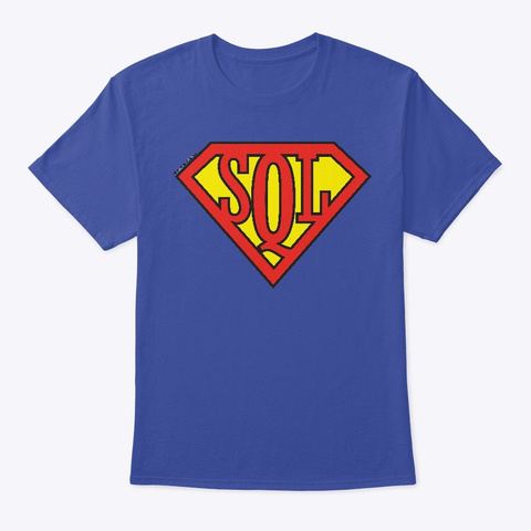 Sql Super(Wo)Man Deep Royal T-Shirt Front