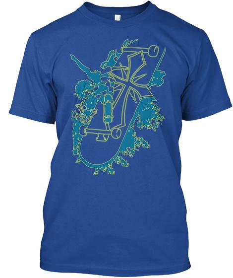 Tshirt Skateboarding Cross Deep Royal T-Shirt Front