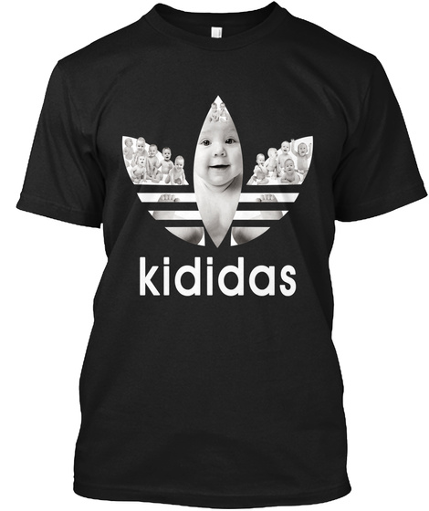Kididas Black T-Shirt Front