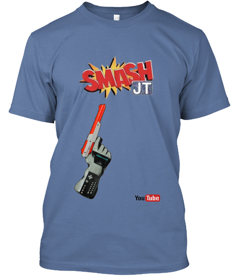 Smash Jt You Tube Denim Blue T-Shirt Front