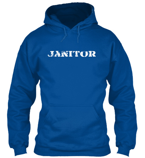 Janitor Royal T-Shirt Front