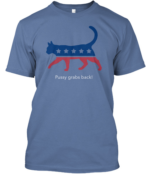 Respect For Women #Be Bold For Change Denim Blue T-Shirt Front