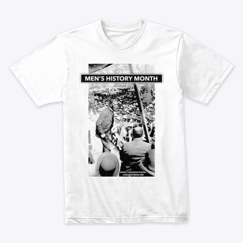 Men's History Month (Readable) White T-Shirt Front
