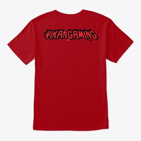 Vikan Gamings Maw Deep Red Kaos Back