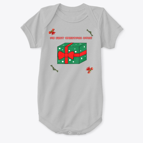 My First Christmas Ever Gift Box Heather  T-Shirt Front