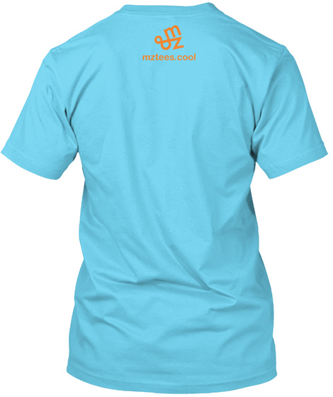 Well Yes And No, Neon Tahiti Blue T-Shirt Back