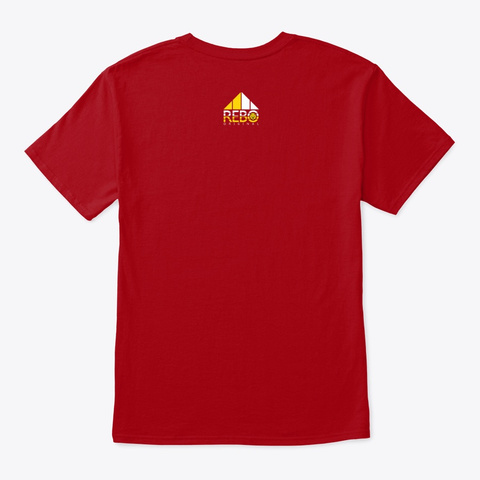 Rebo Ii T Shirt Deep Red T-Shirt Back