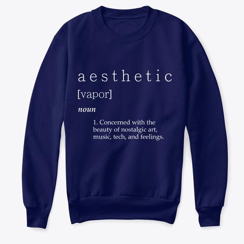 Aesthetic Definition Vaporwave Navy T-Shirt Front