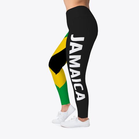 Official Jamaica Leggings Black T-Shirt Left