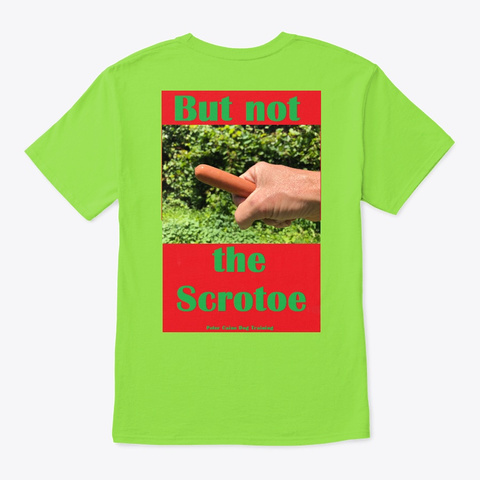Poison Ivy On The Ween  Lime T-Shirt Back