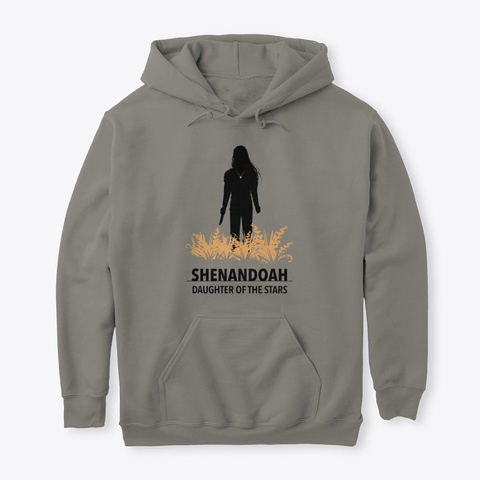 Shenandoah Silhouette Hoodie Charcoal T-Shirt Front