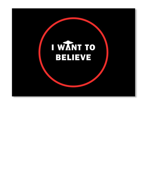 I Want To Believe Sticker [Usa] #Sfsf Black Pegatina Front