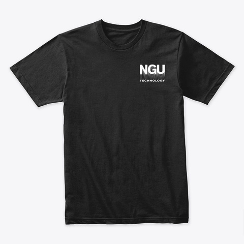 Ngu Technology Black T-Shirt Front