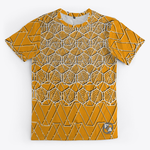 Fitness Addict Patterns Orange T-Shirt Front