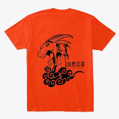 Natural Disaster Ls Collection Deep Orange  T-Shirt Back