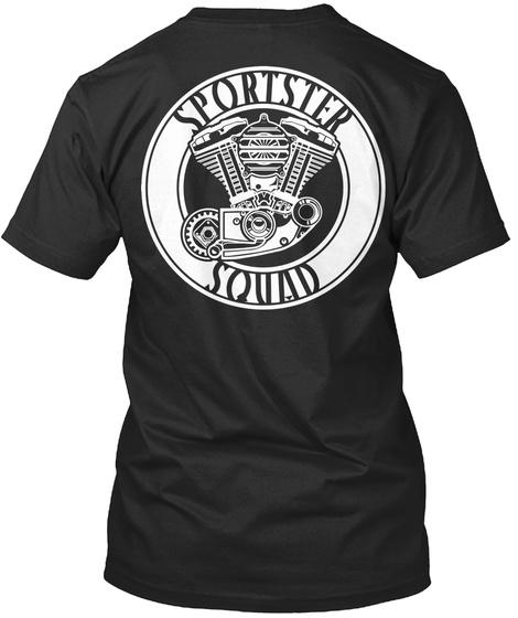 Sportster Squad Black T-Shirt Back