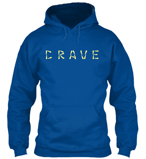 C R A V E Royal T-Shirt Front