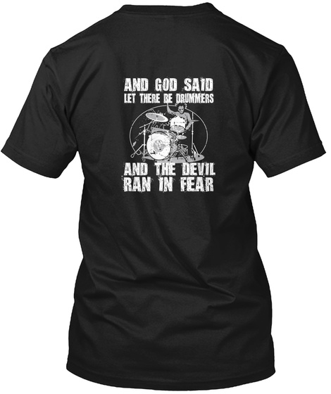 Are You A Drummer? Black T-Shirt Back