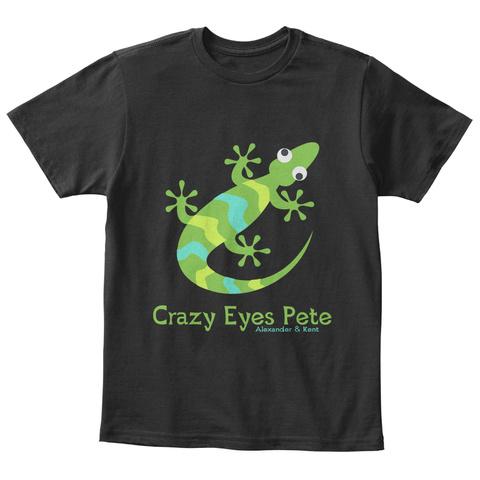 Crazy Eyes Pete Alexander & Kent Black T-Shirt Front