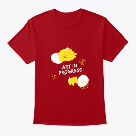Art In Progress Deep Red T-Shirt Front