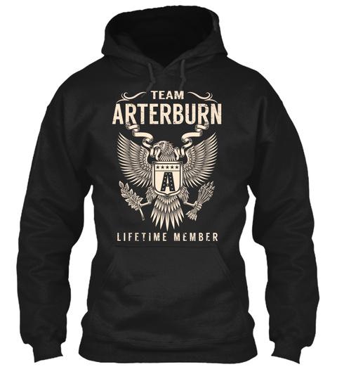 Team Arterburn Lifetime Member Black T-Shirt Front