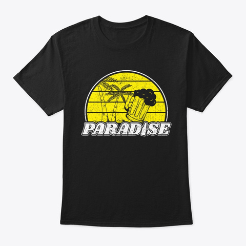Beer Paradise Black T-Shirt Front