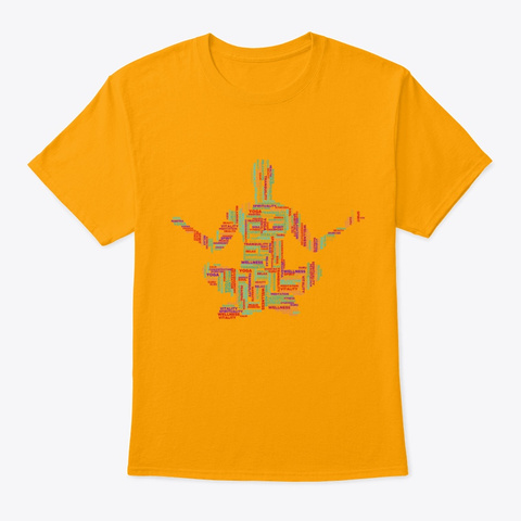 Yoga Health & Fitness  Gold T-Shirt Front