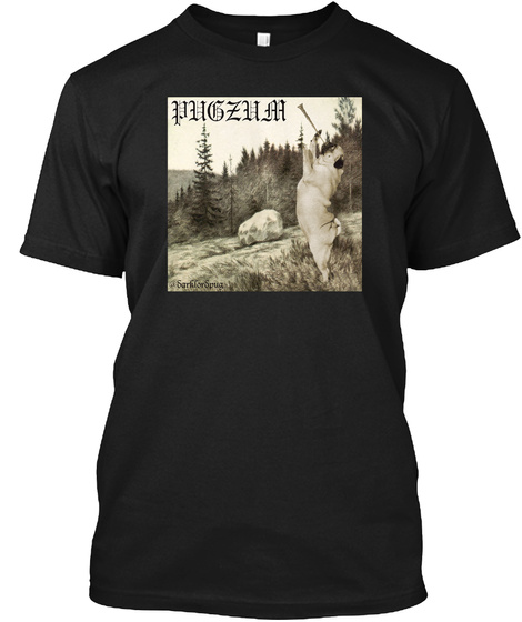 Pugzum Black T-Shirt Front