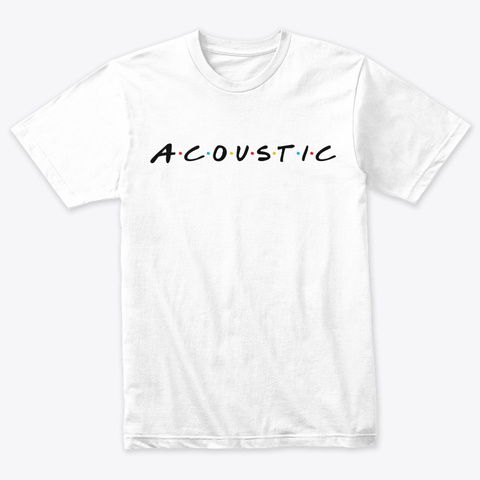 Acoustic Tshirt Heather White T-Shirt Front