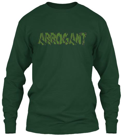 Arrogant Forest Green Maglietta a Maniche Lunghe Front
