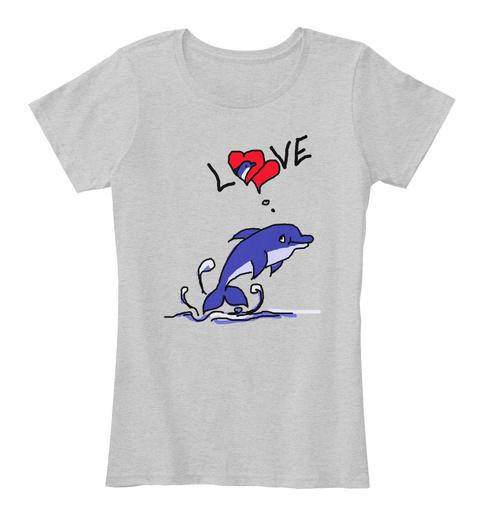 Love Light Heather Grey T-Shirt Front
