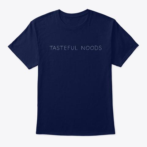 Tasteful Noods Navy T-Shirt Front