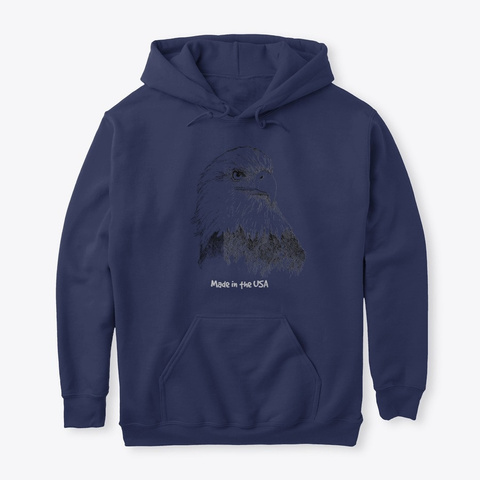 Majestic Eagle  Navy T-Shirt Front