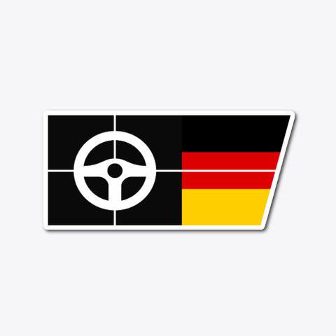 Half Flag German Sticker Standard T-Shirt Front
