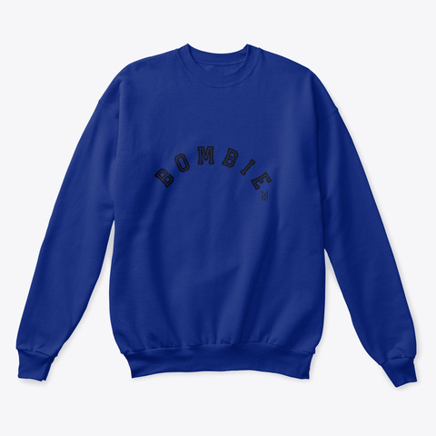 Bombie! Deep Royal  Sweatshirt Front