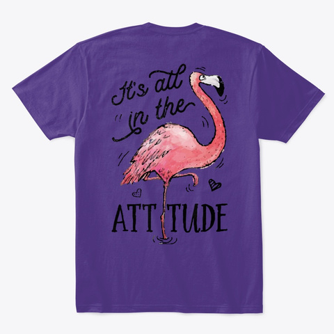 Flamingo Tshirt Purple T-Shirt Back