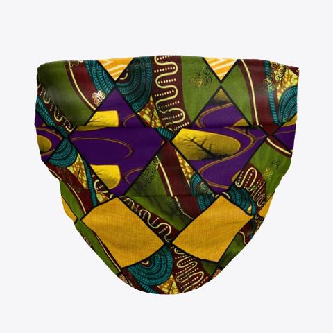 Earthy Mardi Gras African Green T-Shirt Front