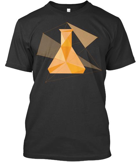 """T Shirt """"Erlenmeyer"""" Black T-Shirt Front"""
