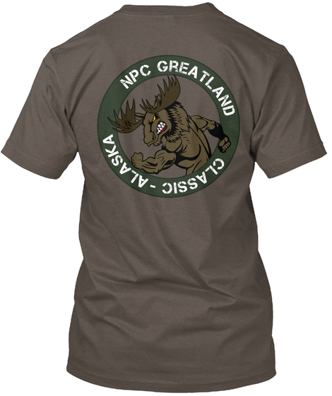 Npc Greatland Classic Alaska Coffee T-Shirt Back