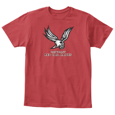 Oak Valley Red Tailed Hawks Spirit Wear Classic Red T-Shirt Front