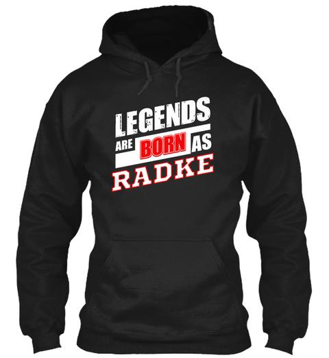 Radke Family Name Shirt Black T-Shirt Front