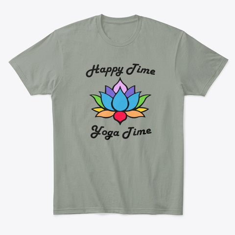 Happy Time, Yoga Time Grey T-Shirt Front