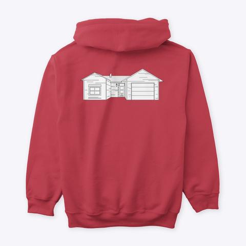 Classic Burbs Hoodie   All Colors Cardinal Red Kaos Back