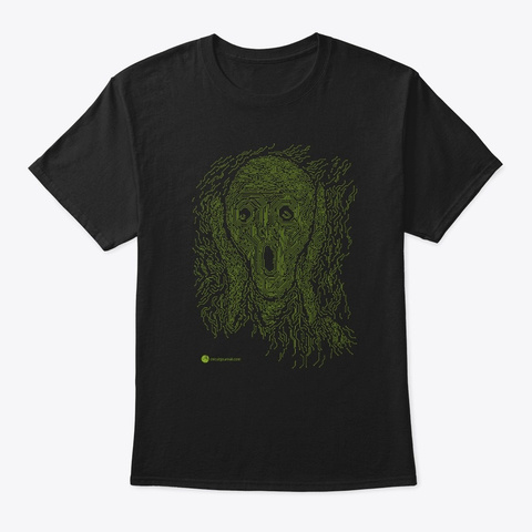 The Electronic Scream Black T-Shirt Front