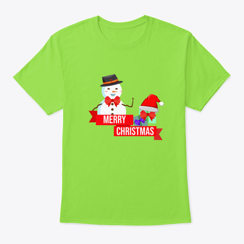Christmas Gift Idea Merry Xmas Team San Lime T-Shirt Front