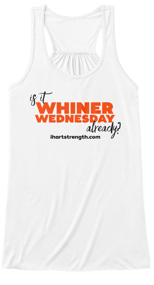 Whiner Wednesday   Orange White Women's Tank Top Front